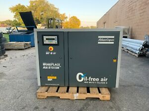 Atlas Copco Sf8 Ff Air Compressor Rotary Screw Used Oil Free Industrial System
