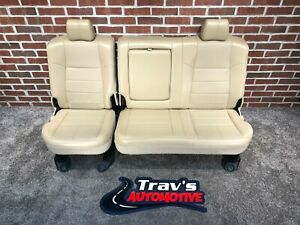99 10 Ford F 250 f 350 Superduty Lariat Rear Leather 60 40 Bench Seat Tan