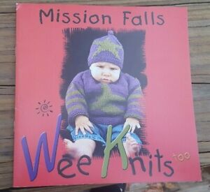 BONANZA SALE RARE KNITTING PATTERN BOOK: WEE KNITS TOO BY MISSION FALLS $1.00
