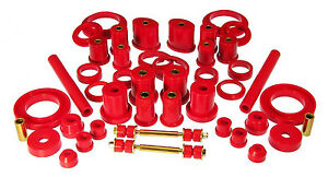 Prothane 99 04 Ford Mustang Complete Total Suspension Bushings Insert Kit Red