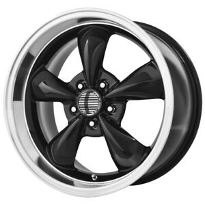 4 Replica 106b Mustang Bullet 17x8 5x4 75 0mm Gloss Black Wheels Rims 17 Inch