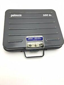 Heavy Duty Pelouze 100lb Capacity Scale W Locking Handle Carrying Features