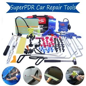 Us Pro Car Paintless Dent Repair Pdr Tools Puller Tabs Hail Removal Kit Rods