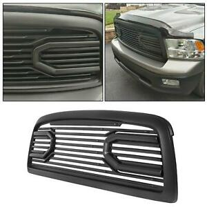 Matte Black Abs Big Horn Packaged Grille shell For Dodge 09 12 Ram 1500