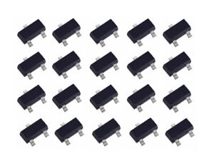 20 Pcs Pack Lot Sot 23 Triode Transistor Smd Mosfet P channel A03401 A19t 3401