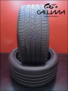 2 Likenew Takeoff Tires Hankook Dynapro Hp2 Plus 285 40r22 2854022 110h 53069