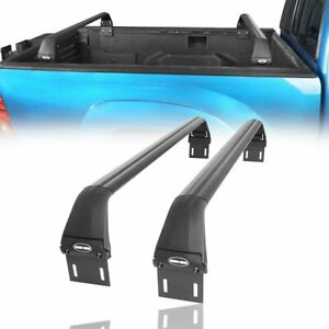 Full Length 2pc Crossbars Bed Rack Fit Toyota Tacoma 2005 2021 2nd 3rd Gen Pair