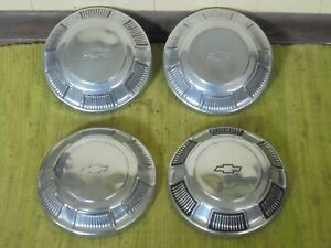 68 69 70 71 72 Chevy Dog Dish Hubcaps 10 1 2 Set Of 4 1968 1969 1970 1971 1972
