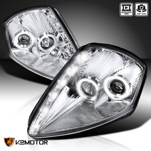 For 2000 2005 Mitsubishi Eclipse Dual Halo Projector Headlights W Smd Led Strip