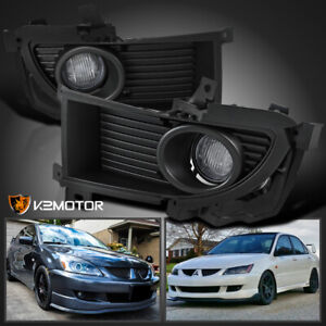 For 2004 2005 Mitsubishi Lancer Clear Bumper Driving Fog Lights Lamps Switch L R