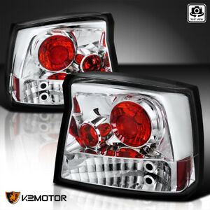 For 2006 2008 Dodge Charger Clear Rear Tail Lights Brake Signal Lamps Left Right