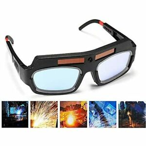 1 Pair Black Solar Auto Darkening Welding Goggle Safety Protective Glasses Mask