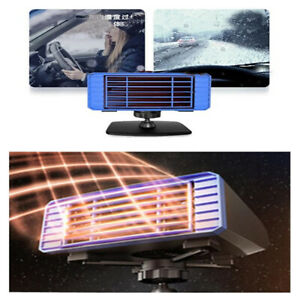 Portable 120v Car Heater Defroster Demister Windshield Power Heating Cooling Fan