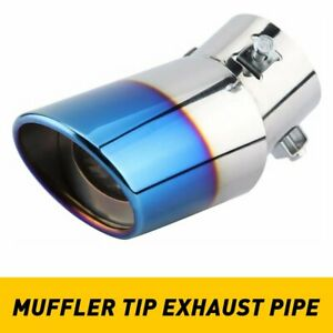 Universal Car Exhaust Pipe Tail Stainless Steel Rear Round Muffler Tip Chrome Ea