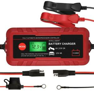 Lcd Display Battery Charger Car Motorcycle Fully Automatic Battery Bsty 01
