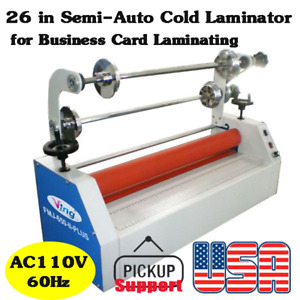 Us Stock 26 Semi auto Small Home Cold Laminator For Business Card Laminating