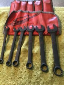 Vintage Snap on C 60d 6 piece Ignition Wrench Set Original Pouch