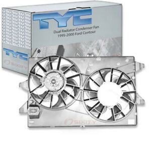 Tyc Dual Radiator Condenser Fan Assembly For 1995 2000 Ford Contour 2 5l Cu