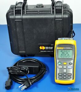 Fluke Hart Scientific 1524 156 Calibration Reference Thermometer 2 Channels