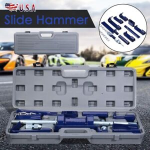 18pcs Auto Trucks Body Dent Repair Kit 13lbs Slide Hammer Dent Puller Tool Set
