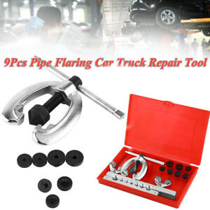 Sae Metric Double Flaring Brake Line Tool Set With Mini Pipe Cutter Car Truck