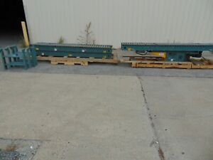 Hytrol Powered Belt Operated Roller Conveyor With Legs 208 230 460v