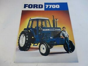 1976 Ford 7700 Tractor 84hp Sales Brochure