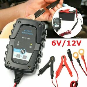 12v 6v Auto Trickle Battery Charger Maintainer For Tender Car Motorcycle Boat