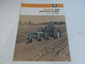 1964 Oliver 361 Mounted Plows For 550 1600 Sales Brochure
