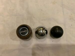 3 Shifter Knobs Pmd Woodgrain Chrome And Black Manual Transmission Floor Shift