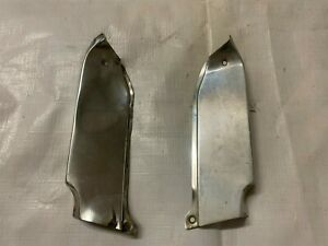 1966 Chevy Impala Inner Fender Molding Extension Stainless Trim Pair
