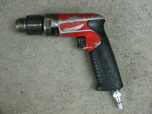 Sioux Pneumatic 2600 Rpm Pistol Grip Drill 3 8 Inch Drive Keyed Chuck Used