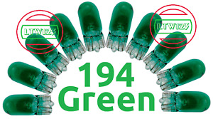 10 194 Green T10 Wedge Car Mini Bright Light Bulb W5w 5050 2825 158 192 168