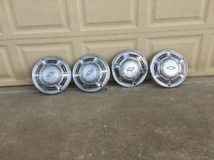 1970 Chevy Chevelle Malibu Hubcaps 14 Set Of Four 4 Wheel Covers Hub Cap