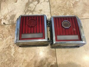 Pair Of 1977 Pontiac Grand Prix Tail Lights Right And Left Taillights