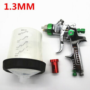 Hvlp Car Auto Fed Spray Paint Primer Gun 1 3mm Nozzle With Adapter Pps Tank