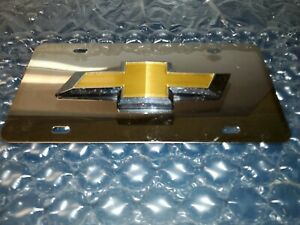 License Plate Emblem Tag Gold Chrome Logo Stainless Steel Plate For Chevrolet
