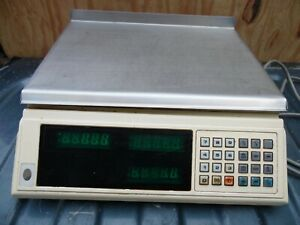 Cas Corp Space 2000 Digital Computing Scale Food Deli Grocery S 2000 01 30 Lbs