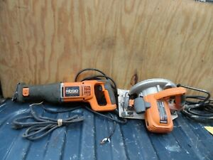 Ridgid R3001 Reciprocating Saw 11 Amp R3200 7 1 4 Circular Saw 15 Amp Used