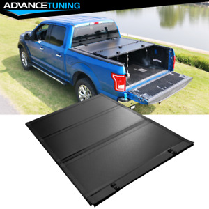 Fits 14 21 Toyota Tundra 5 6ft Bed Low Profile Hard Tri Fold Style Tonneau Cover