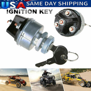 Universal Ignition Key Starter Switch With 2 Keys For Car Tractor Trailer New