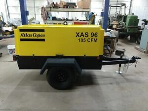 Atlas Copco Xas96 185cfm Air Compressor John Deere 4045 Only 29 Original Hours