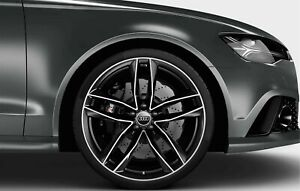20x9 33 5x112 Rs6 Style Black Machined Rim Wheels Fits Audi A5 A6 A7 S4 S5 Rs5