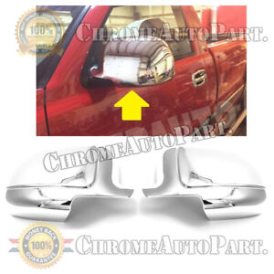 For 2002 2005 2006 Cadillac Escalade Ext Chevy Avalanche Chrome Mirror Covers