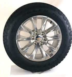 One New Takeoff 20 Chevy Silverado Tahoe Polished Wheels Goodyear A T Tire