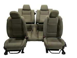 2011 Ford Mustang Gt Seats Seat Set Gray Cloth Seats Light Stone Manual Lh Rh