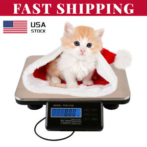 660lb Digital Floor Bench Platform Postal Scale Lcd Display Kg lb 300kg