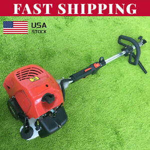 2 Stroke 52cc Gas Power Sweeper Hand Held Broom Cleaning Driveway Turf Grass