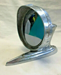 Vtg Chrome Car Side Mirror Vehicle Rat Rod Hot Rot Silver Automobile View