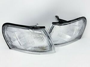 Set Of Pair Clear Corner Park Signal Lights For 1993 1997 Toyota Corolla